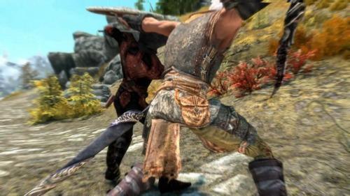 スカイリムゲームプレイ動画のワンカット。暗殺者に襲われるも返り討ちにしたヒトコマ。